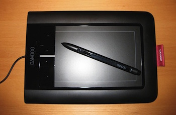 graphics pad and stylus