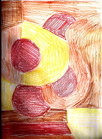 warm color drawing