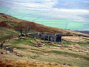 A ruined house on the moors