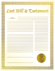 will and testament