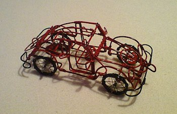 wire car made with outlines