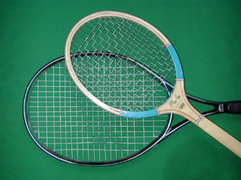 wood and carbon fiber rackets