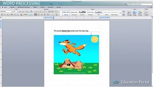 Word Processing Screen Shot