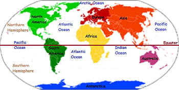 The World Map Lesson For Kids Continents Features Studycom - World map continents and oceans