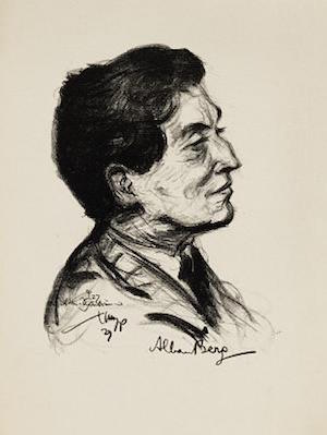 Portrait of Alban Berg
