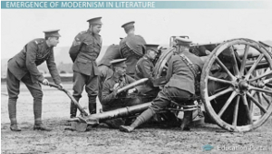 modernism in american literature video lesson transcript  wwi modern warfare