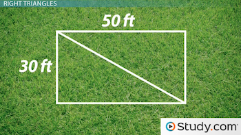 image of yard cut into right triangles