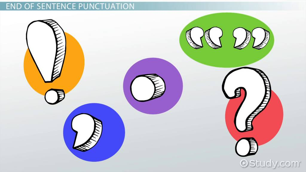 Punctuation Lesson For Kids Rules Examples Video Lesson