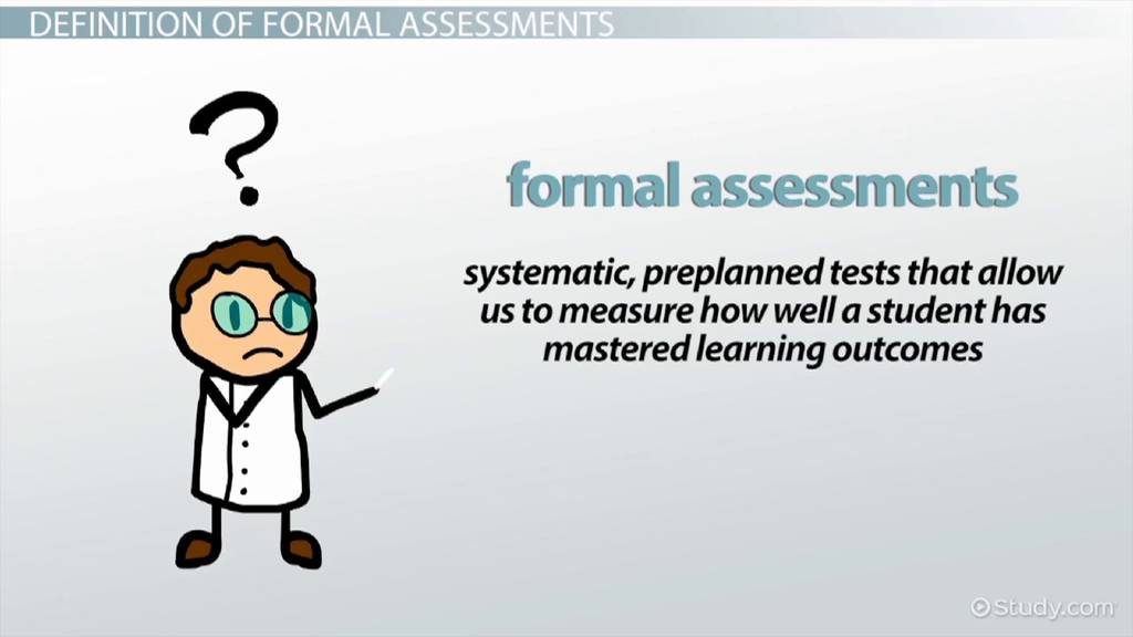 Formal Assessments: Examples & Types - Video & Lesson Transcript ...