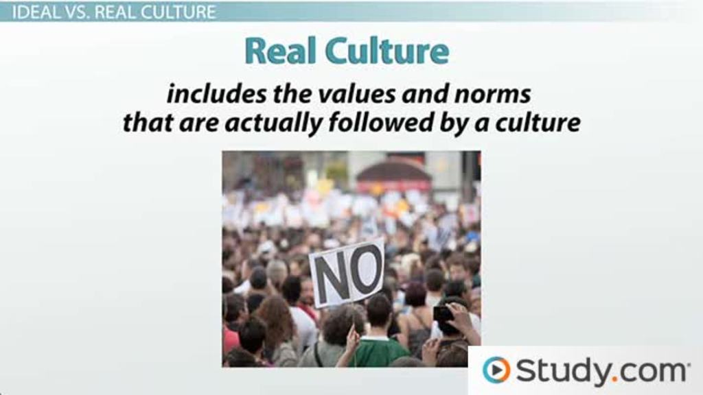 perceptions of culture ideal culture and real culture
