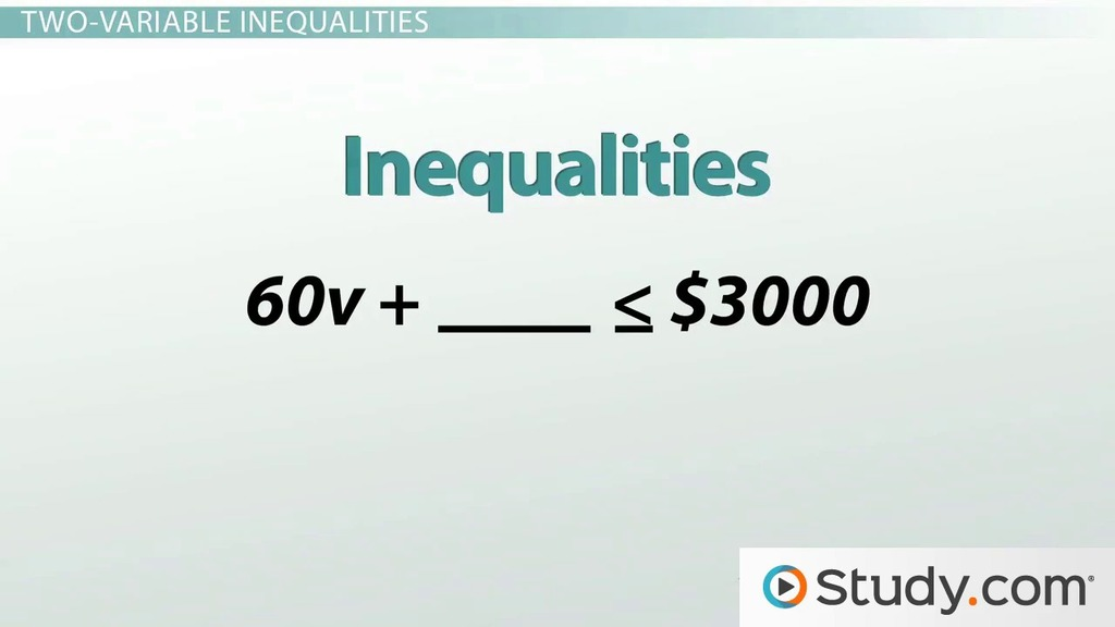 What Is An Inequality Video Lesson Transcript Study