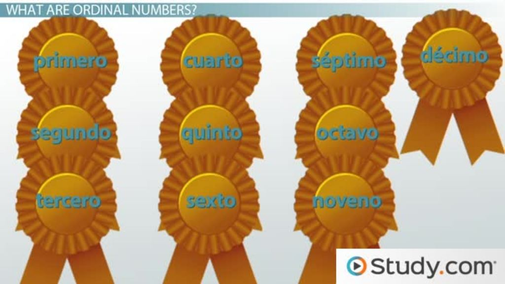 Ordinal numbers in spanish video lesson transcript study ibookread Read Online
