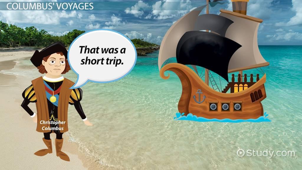 Christopher Columbus's Voyages: Route & Legacy - Video & Lesson Transcript  | Study.com