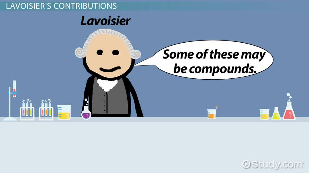 Antoine Lavoisier Atomic Theory Contribution Video Lesson