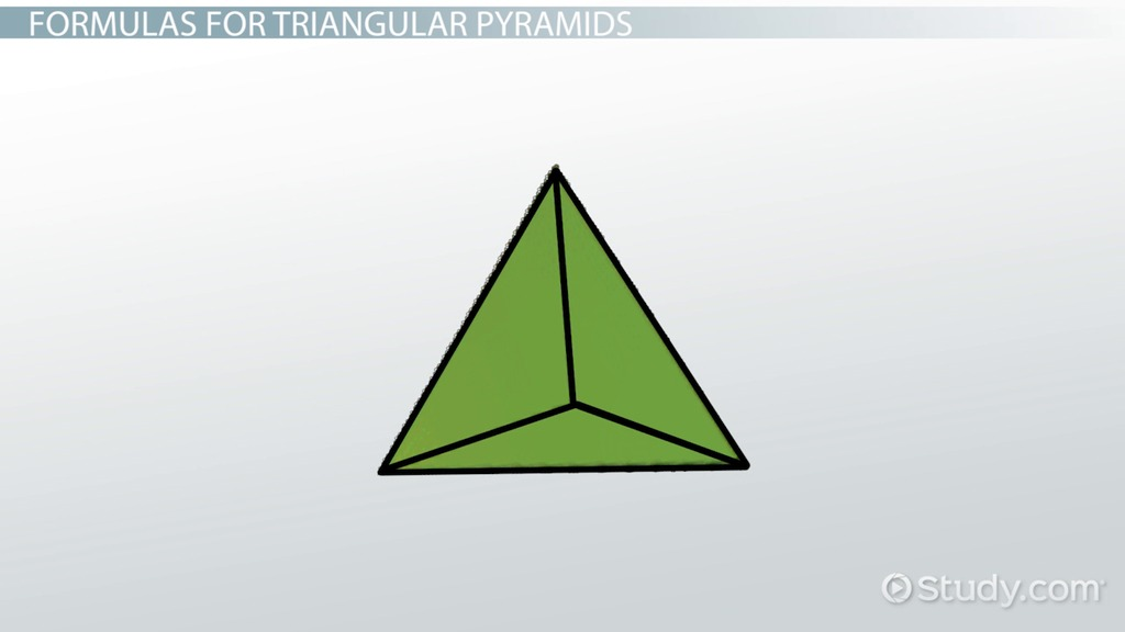 What is a Triangle Pyramid? - Definition & Formula - Video ...