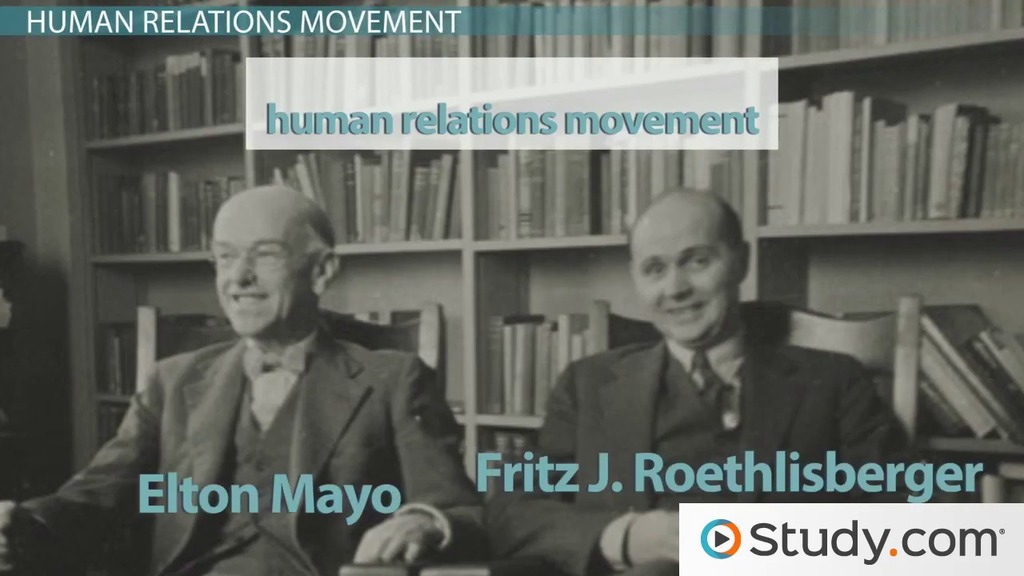 contribution of the human relations movement The human relations movement in organizational behavior focuses on the person as an individual and not as just another part of the mechanics of.