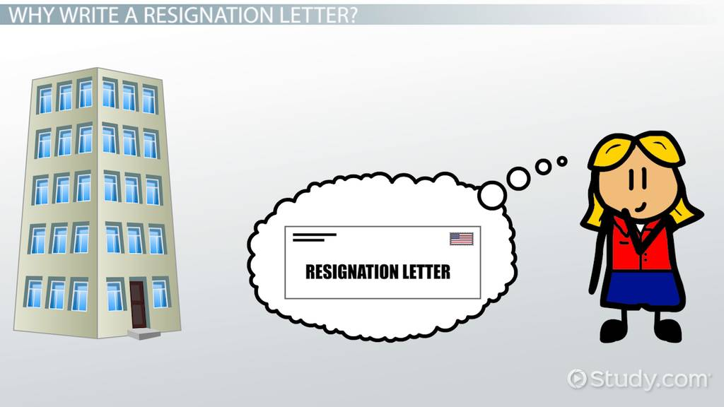 How To Write A Resignation Letter Formation Sample Video