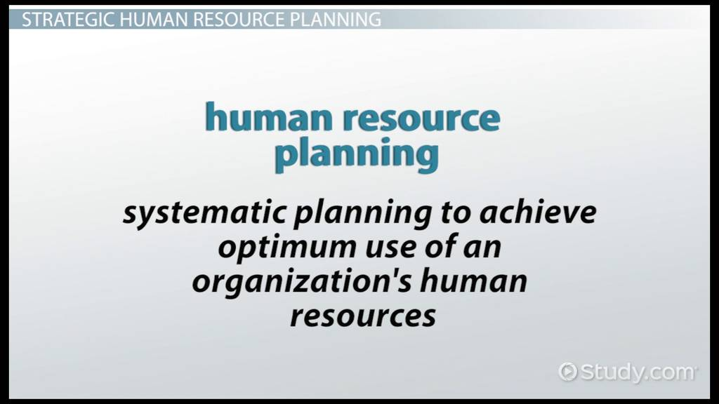 strategic human resource planning  definition  u0026 model