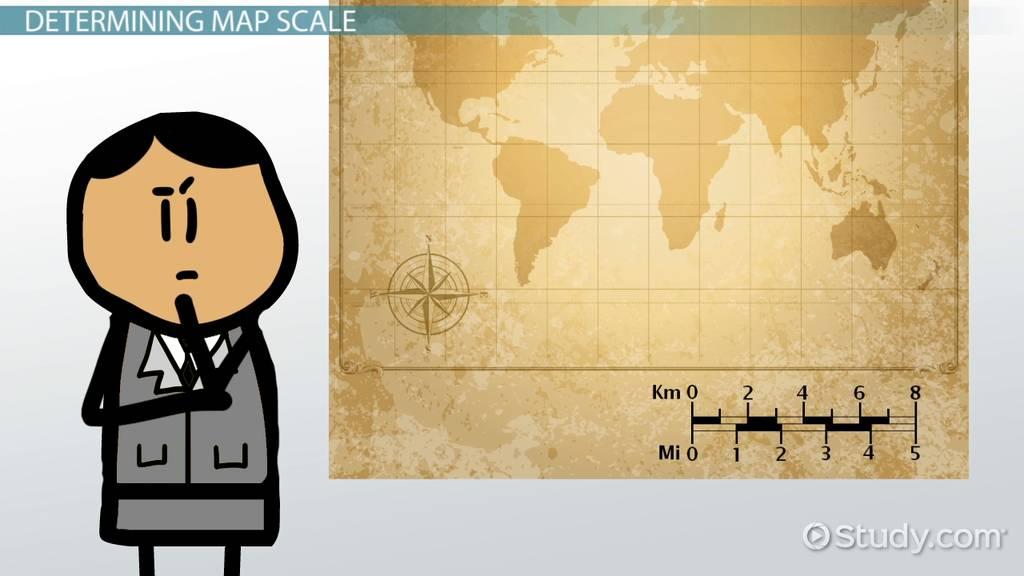 Map Scale Lesson For Kids Video Lesson Transcript Study