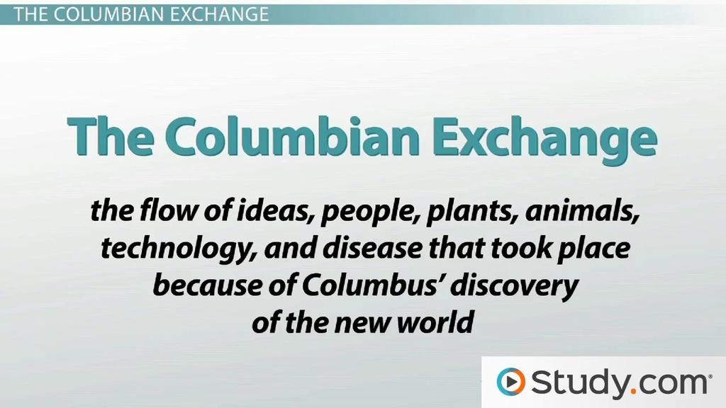 The Columbian Exchange - Video & Lesson Transcript | Study.com