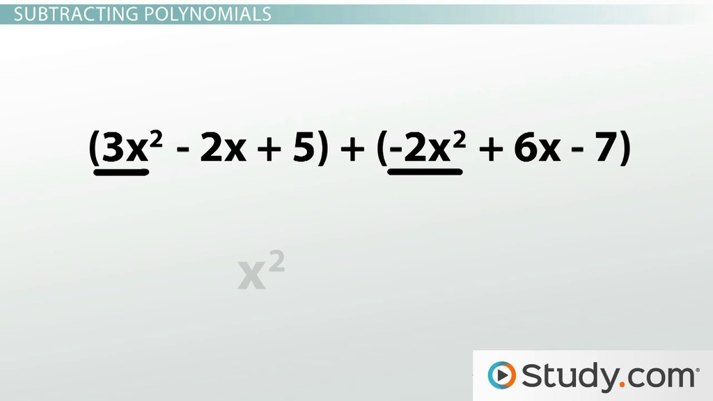 How to Add, Subtract and Multiply Polynomials - Video & Lesson ...