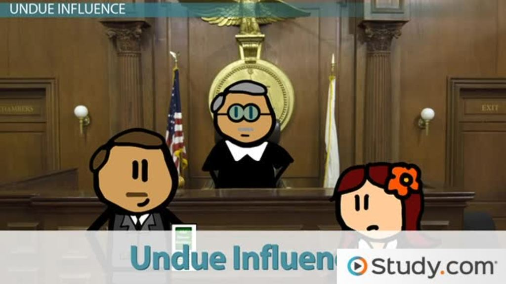 Duress And Undue Influence In Contract Enforcement Video Lesson