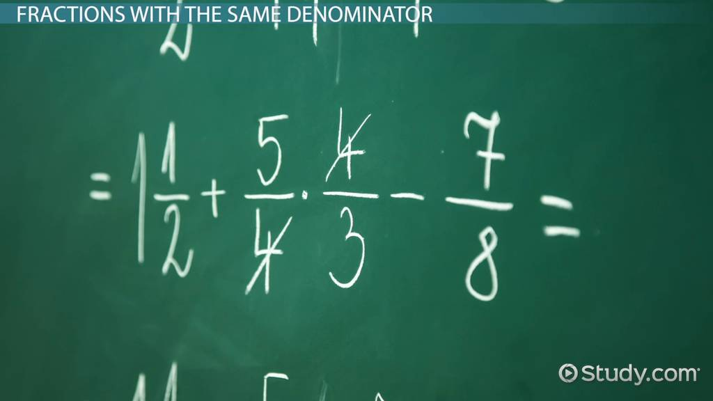How to Add Three or More Fractions with Like & Unlike Denominators ...