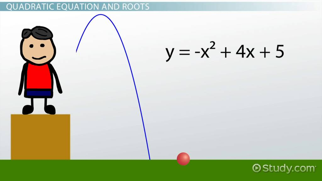 How To Use The Quadratic Formula To Find Roots Of Equations Video