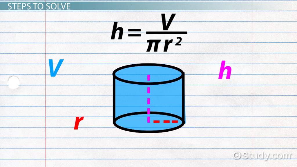 How to Find the Height of a Cylinder - Video & Lesson Transcript ...