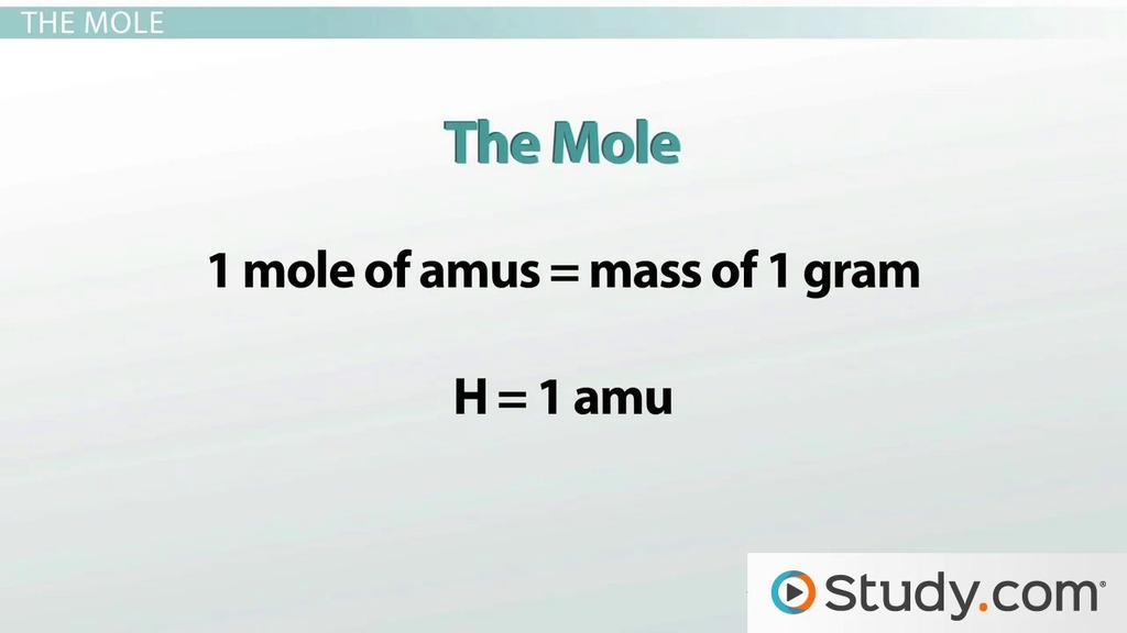 Avogadros Number Using The Mole To Count Atoms Video Lesson