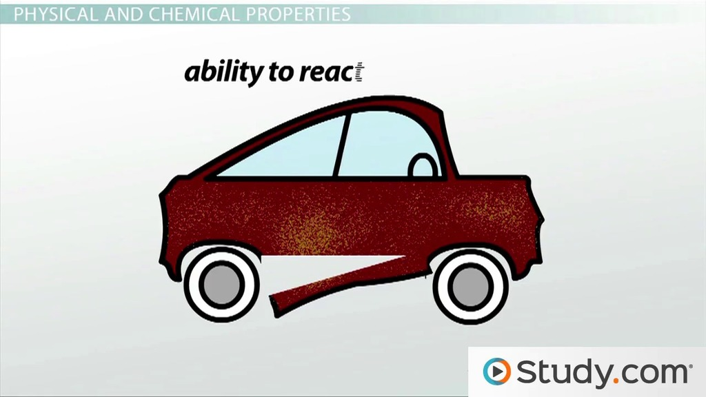 Matter Physical And Chemical Properties Video Lesson Transcript