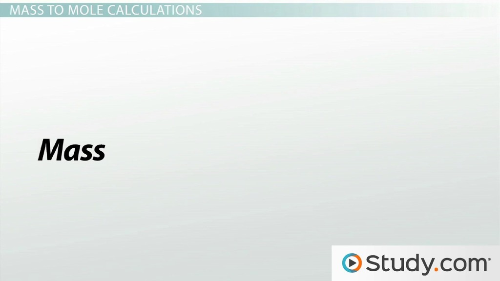 Mass To Mass Stoichiometric Calculations Video Lesson Transcript Study Com