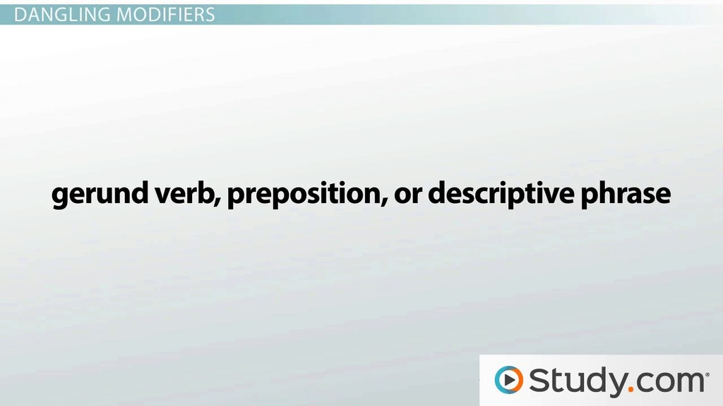 What Are Misplaced Modifiers And Dangling Modifiers Video