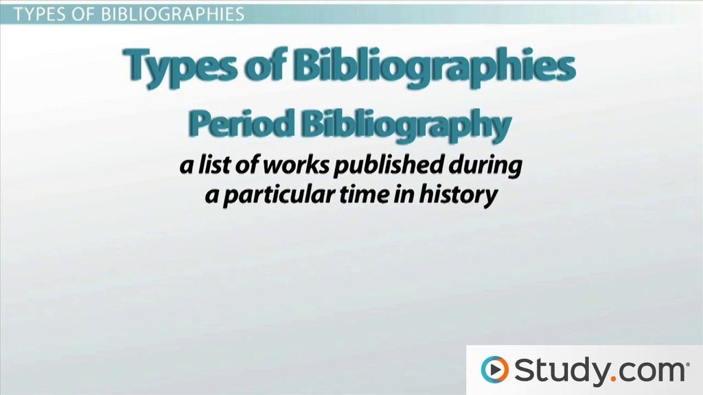 Types of bibliographies professional critical thinking writers website gb