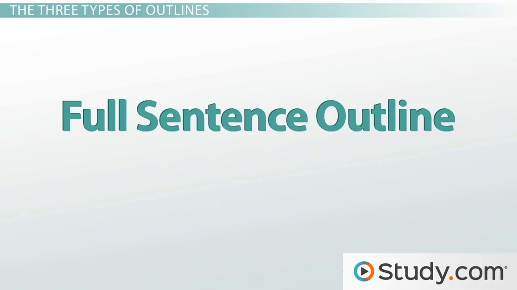 How To Write An Outline Video Lesson Transcript Study