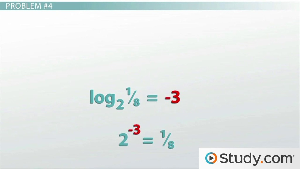 How To Evaluate Logarithms Video Lesson Transcript Study Com