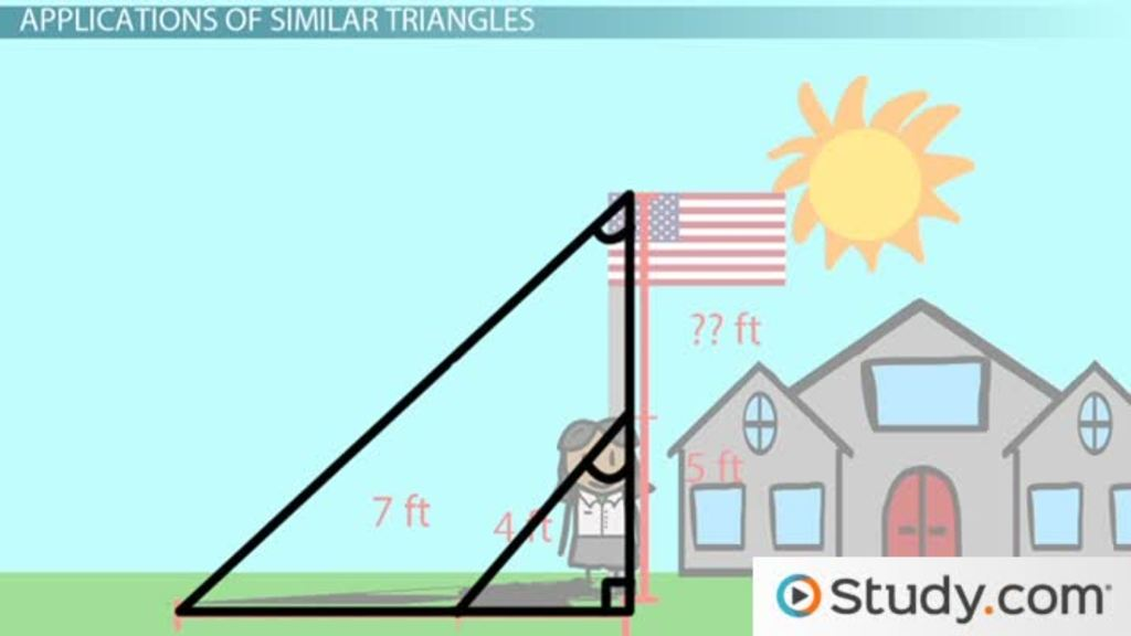 Applications Of Similar Triangles Video Lesson Transcript
