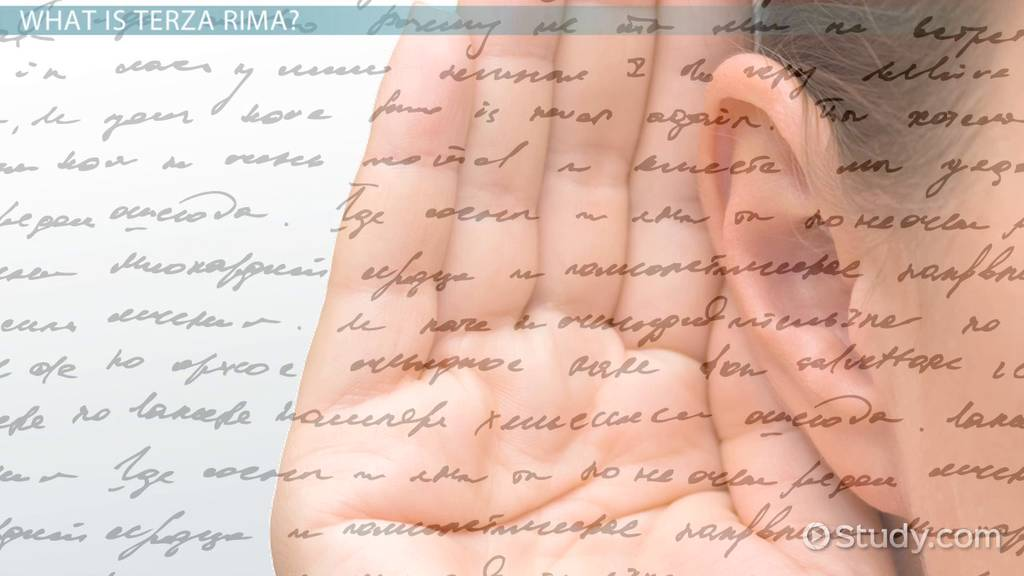 terza rima rhyme scheme  definition  u0026 examples