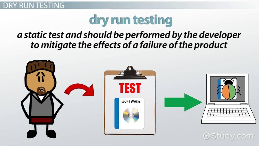 dry run testing in software development