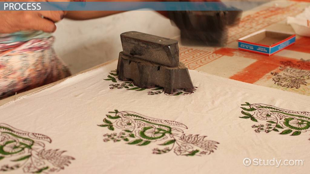 What Is Block Printing In Textiles Video Amp Lesson