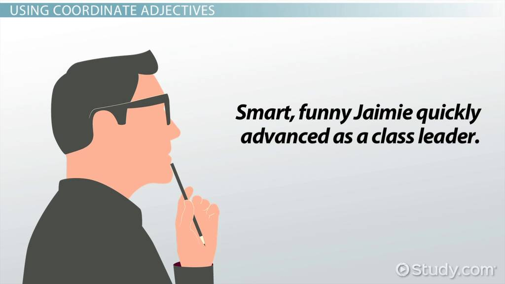 What Are Coordinate Adjectives Definition Examples Video