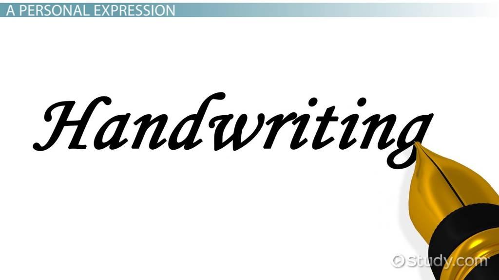 Handwriting Analysis Method Purpose Video Lesson Transcript Study Com