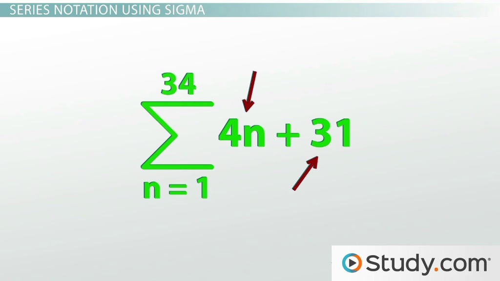 Summation Notation And Mathematical Series Video Lesson