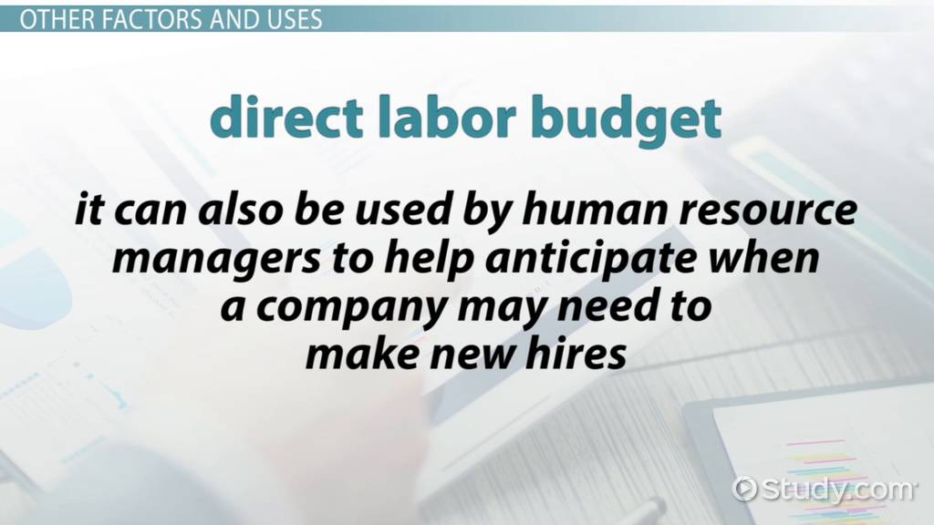 Direct Labor Budget: Definition, Example & Formula - Video & Lesson ...