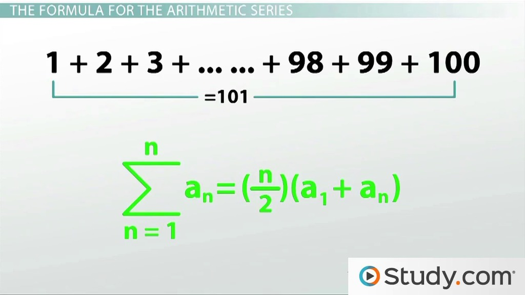 Arithmetic and Geometric Series: Practice Problems - Video & Lesson ...