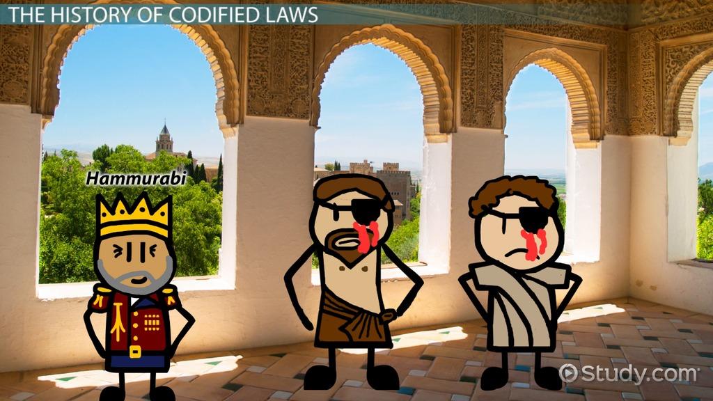 codified law  definition  u0026 history