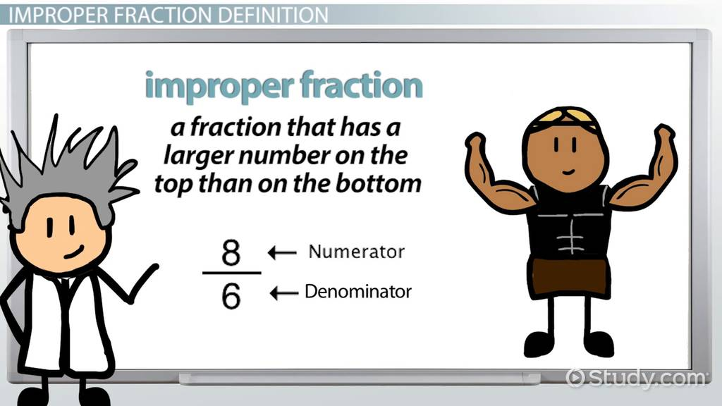 What is an Improper Fraction? - Definition & Example - Video ...