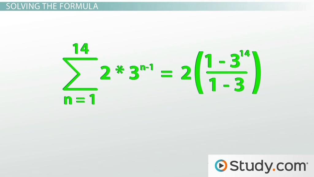 How to Calculate a Geometric Series - Video & Lesson Transcript