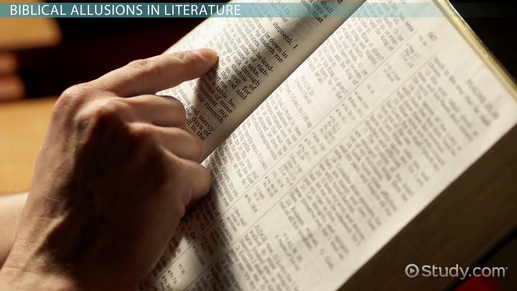 The Bible And Literature Video Lesson Transcript Study