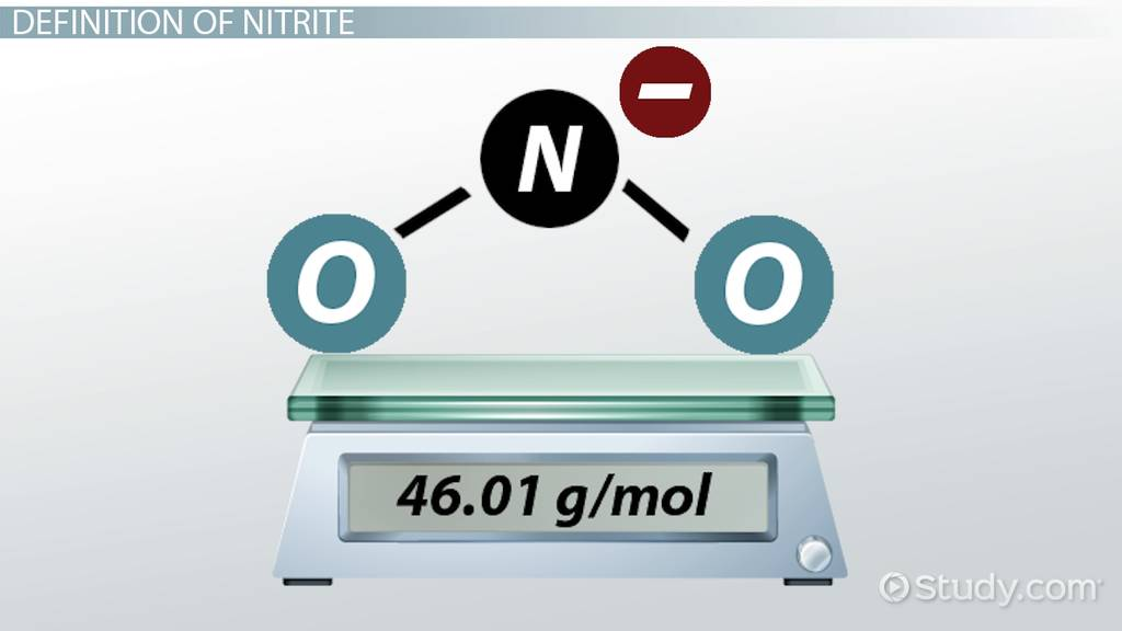 Nitrite Definition Structure Formula Video Lesson Transcript